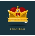 Heraldic king or queen majesty golden crown vector image