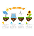 infographic alternative power sources the energy vector image