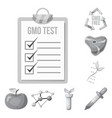 isolated object of genetic and plant icon set of vector image vector image