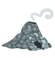 isolated volcano vector image