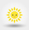 kawaii sun icon flat vector image