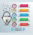 key lock icon business infographic vector image