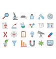 Laboratory colorful icons set vector image vector image