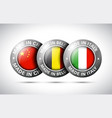 made in china belgium italy flag metal icon set vector image vector image