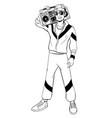 man in cartoon 80s-90s pop-art comic style vector image vector image