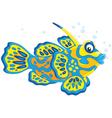 Mandarin fish vector image vector image