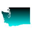 Map of Washington vector image vector image