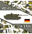 Military tank german army Armur vehicles vector image