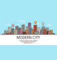 modern city banner cityscape urban landscape vector image vector image