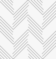 Monochrome pattern with gray chevron lines vector image vector image