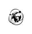 network icon globalization icon black on white vector image vector image
