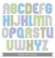 Poster elegant stripy typescript best for poster vector image vector image