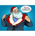 Santa Claus super hero vector image