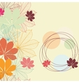 Seamless background with falling autumn leaves in vector image vector image