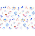 seamless floral pattern on a white vector image vector image