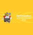 seo optimization programming and web analytics vector image vector image