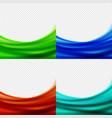 set abstract bluegreenred backgrounds vector image