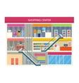 Shopping Center Buiding Design vector image