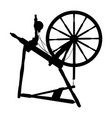 silhouette old vintage spinning wheel on a vector image vector image