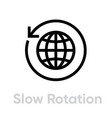 slow rotation globe earth icon editable line vector image vector image