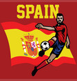 soccer player of spain vector image vector image