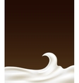 sour cream vector image vector image