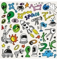 space - doodles collection vector image