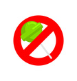 Stop lollipop Red forbidding sign for sweet candy vector image vector image