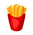 stylized french fries vector image