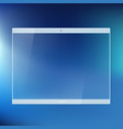 tablet device with a transparent glass screen vector image vector image