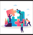 team work cooperation and partnership vector image vector image