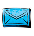 traditional letter in an envelope vector image vector image