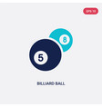 two color billiard ball icon from gaming concept vector image