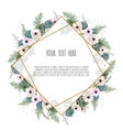 vintage label with flowers frame border with copy vector image