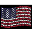 waving usa flag stylization of fist vector image