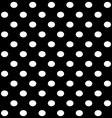 white dots on black vector image vector image