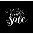 winter sale black and white handwritten lettering vector image