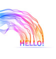word hello colored modern letters vector image vector image