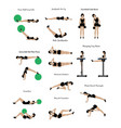 workout exercise vector image vector image