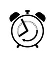 alarm clock line icon outline sign vector image