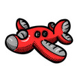 cartoon image of airplane icon plane symbol vector image