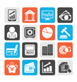 Business finance and bank icons vector image