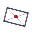 air mail envelope postal stamp letter symbol vector image