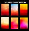 abstract colorful sunset with light template vector image vector image