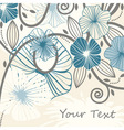 abstract flowers and blots vector image