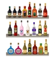 Alcoholic beverages vector image