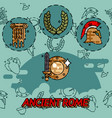 ancient rome flat concept icons vector image