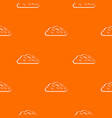 autumn cloud pattern seamless vector image vector image