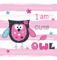 Background with cute owl vector image vector image