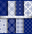 blue arabesque patterns vector image